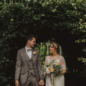 Whimsical Floral Blush & Grey Wedding