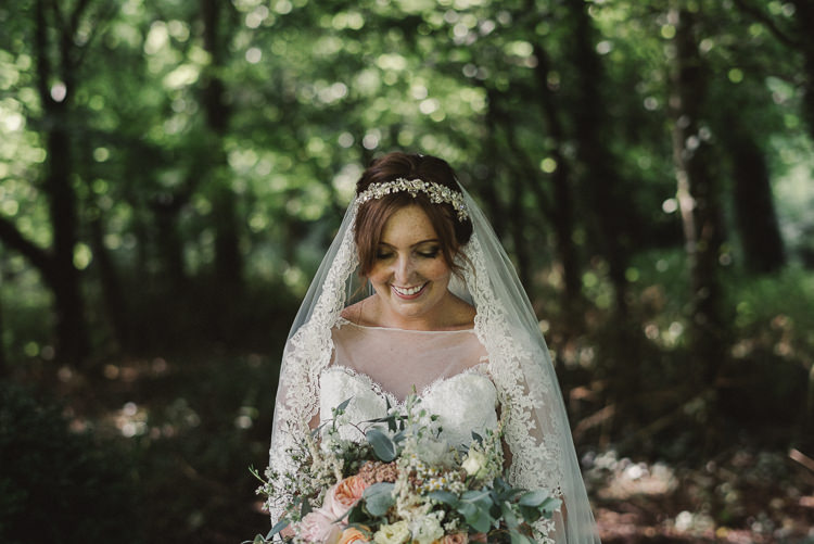 Lace Veil Bride Bridal Whimsical Floral Blush Grey Wedding https://www.scuffinsphotography.com/