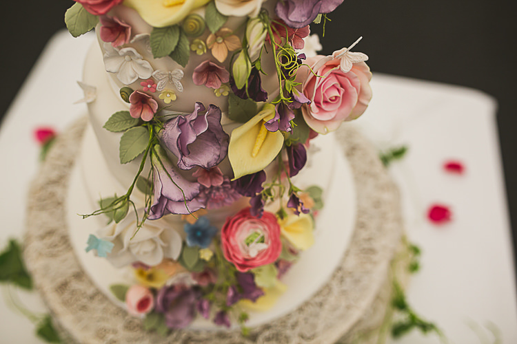 Floral Icing Cake Colourful Midsummer Night's Dream Party Wedding http://thespringles.com/