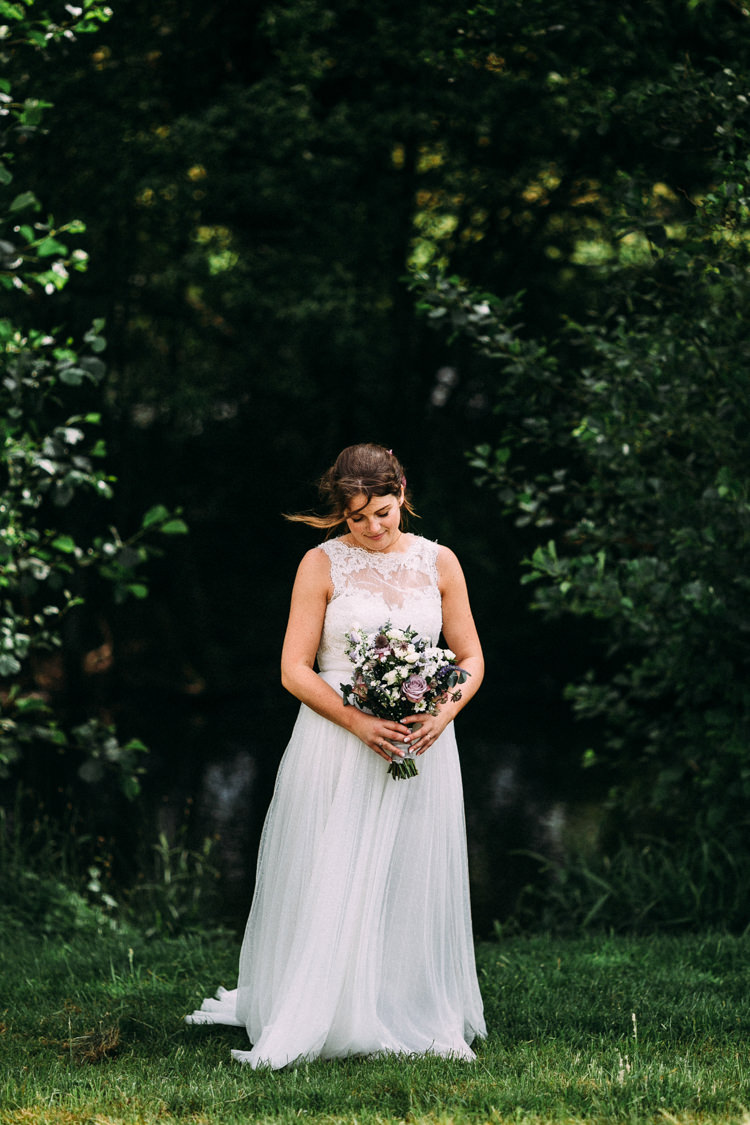 Polka Dot Tulle Dress Gown Bride Bridal Style Sheer Illusion Magical Midsummer Night's Dream Wedding http://www.beatriciphotography.co.uk/