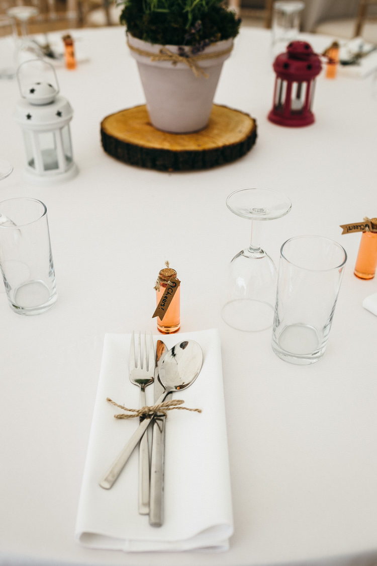 Place Setting Shot Drink Bottle Magical Midsummer Night's Dream Wedding http://www.beatriciphotography.co.uk/