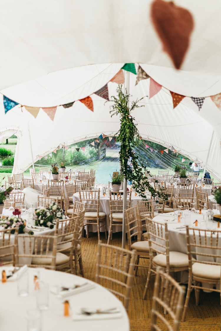 Country Marquee Bunting Foliage Greenery Magical Midsummer Night's Dream Wedding http://www.beatriciphotography.co.uk/