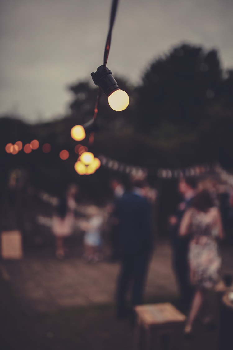 Festoon Lights Homespun Festival Village Hall Wedding http://www.himandherweddingphotography.co.uk/