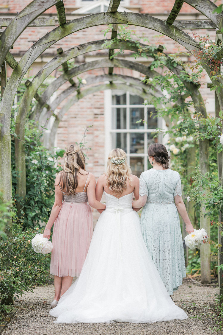 Mismatched Pastel Bridesmaids Dresses Romantic Pink Summer Glamping Wedding http://helenrussellphotography.co.uk/