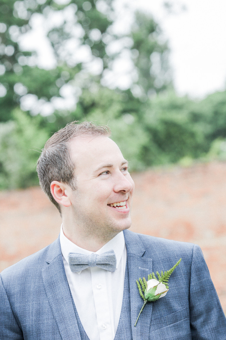 Bow Tie Groom Romantic Pink Summer Glamping Wedding http://helenrussellphotography.co.uk/