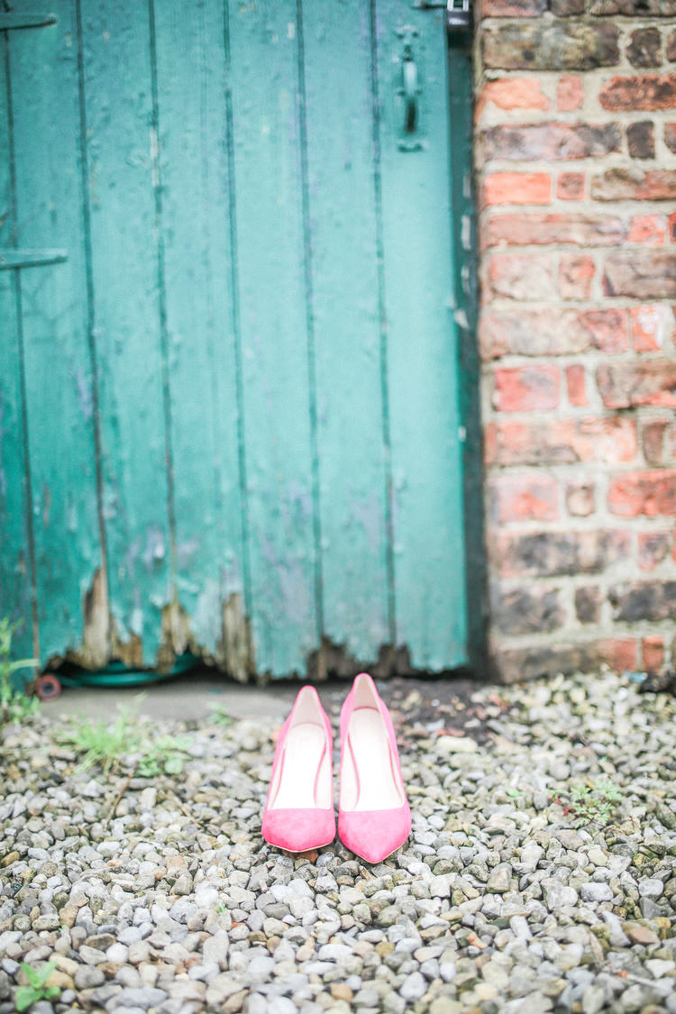 Shoes Bride Bridal Romantic Pink Summer Glamping Wedding http://helenrussellphotography.co.uk/