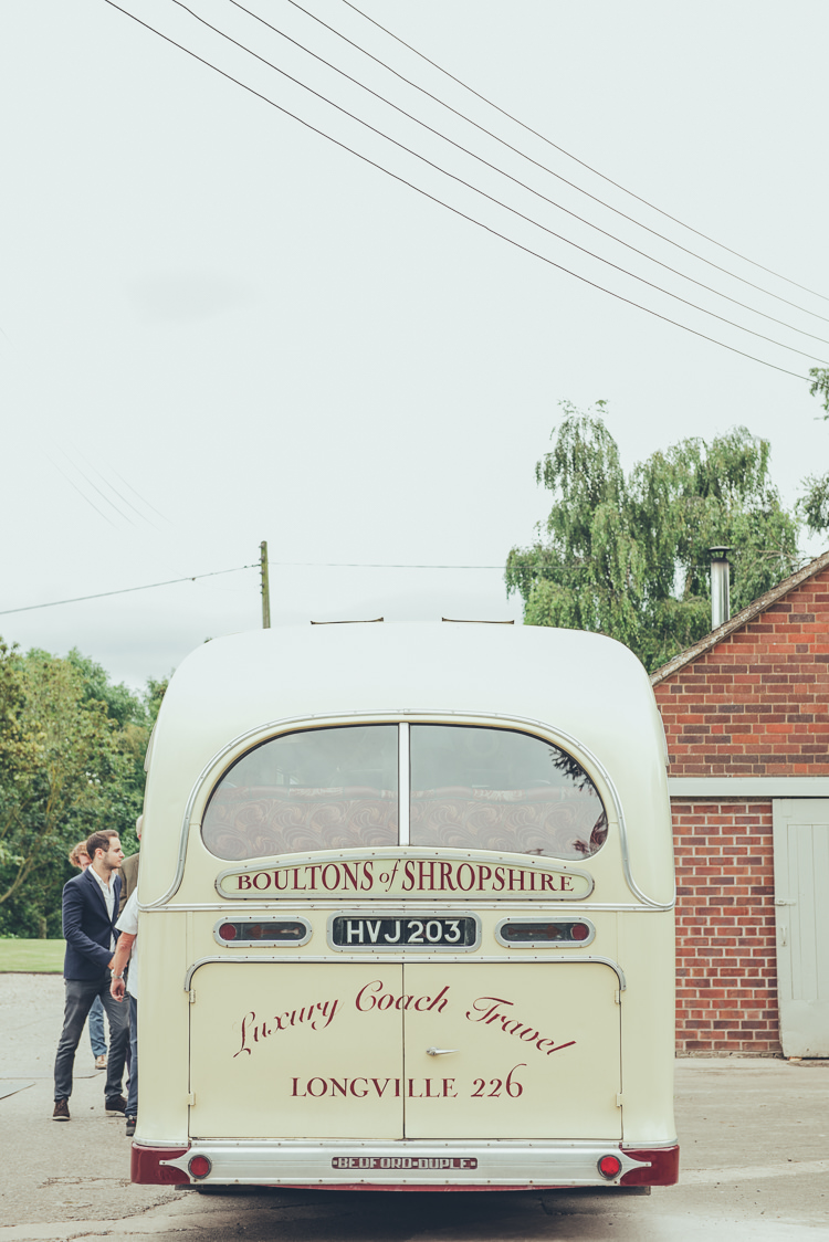 Vintage Bus Rustic Home Made Country Barn Wedding http://lisahowardphotography.co.uk/