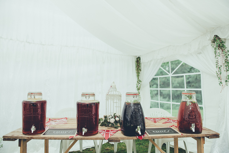 Drink Dispensers Bar Station Rustic Home Made Country Barn Wedding http://lisahowardphotography.co.uk/