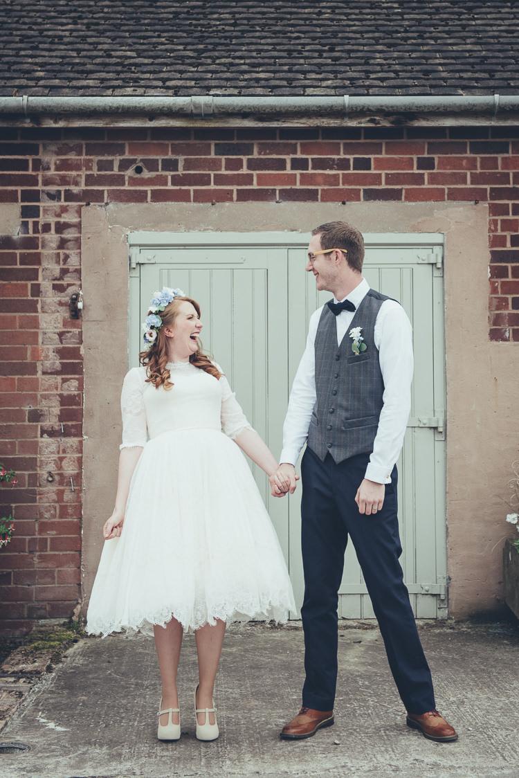 Groom Waistcoat Bow Tie Chinos Rustic Home Made Country Barn Wedding http://lisahowardphotography.co.uk/