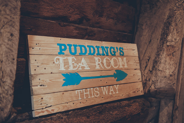Wooden Sign Tea Room Rustic Home Made Country Barn Wedding http://lisahowardphotography.co.uk/