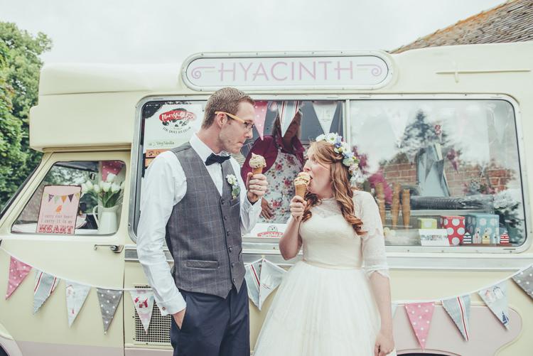 Ice Cream Van Rustic Home Made Country Barn Wedding http://lisahowardphotography.co.uk/