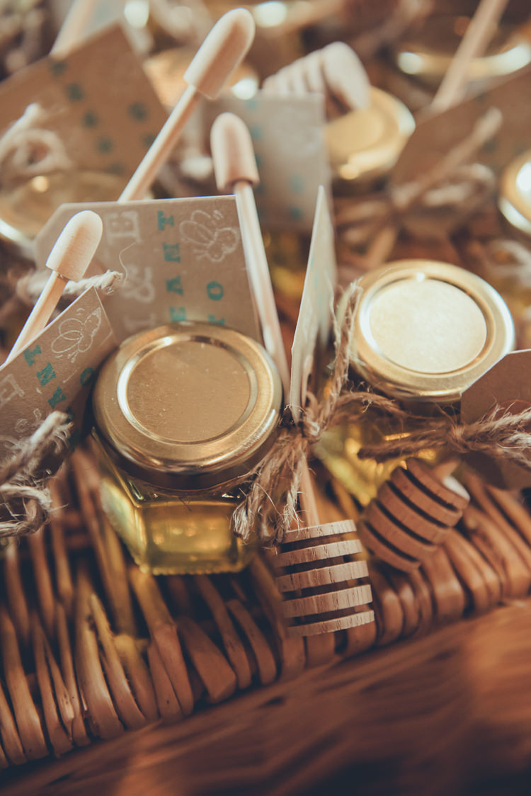 Honey Favours Rustic Home Made Country Barn Wedding http://lisahowardphotography.co.uk/