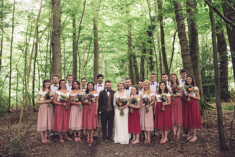 Bridesmaids Skirts Groomsmen Bow Ties Braces Hand Crafted Vintage Woodland Wedding http://www.jennawoodward.com/
