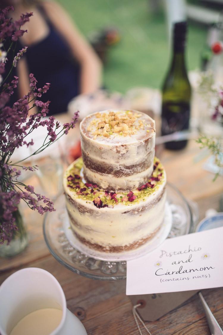 Naked Cake Crumb Icing Hand Crafted Vintage Woodland Wedding http://www.jennawoodward.com/