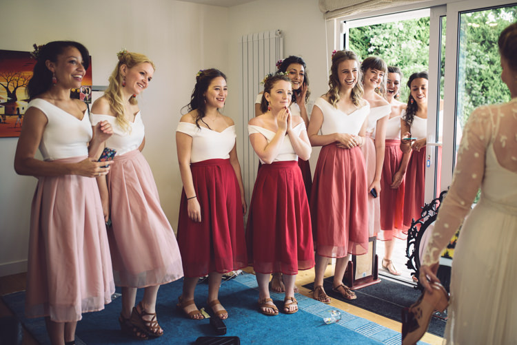 Bridesmaids Skirts Tops Hand Crafted Vintage Woodland Wedding http://www.jennawoodward.com/