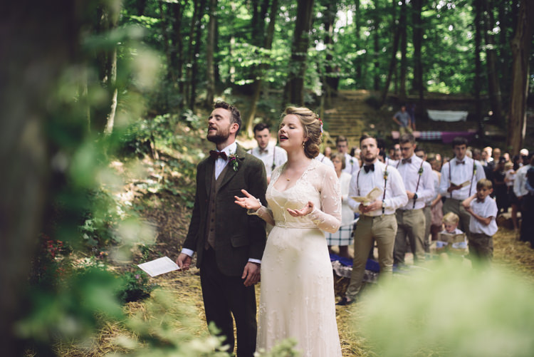 hand crafted vintage woodland wedding whimsical