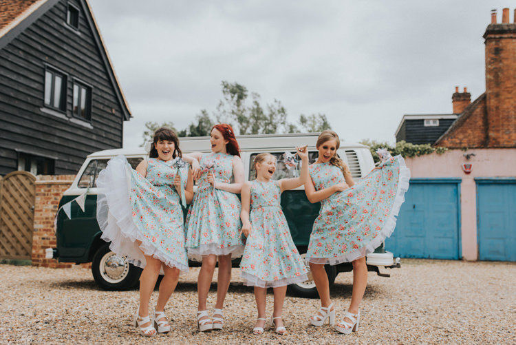 Floral Prom Dresses Bridesmaids DIY Pastel Creative Wedding http://www.baiandelle.com/
