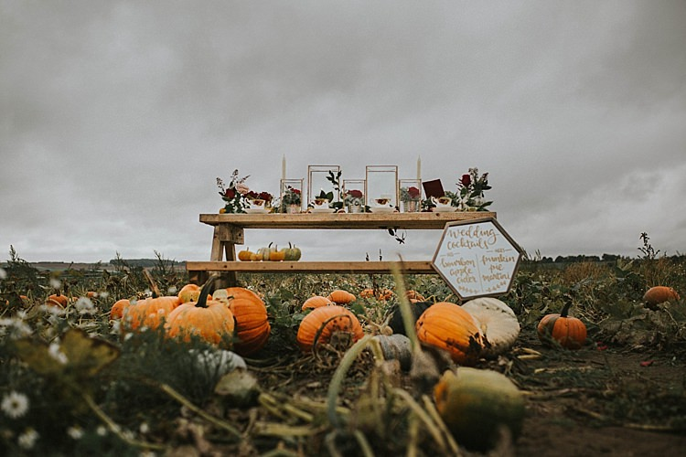 Table Dececor Rustic Pumpkin Field Autumn Wedding Ideas http://www.jessicajweddingphotography.co.uk/