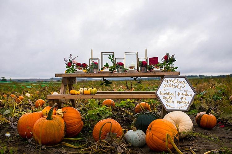 Tablescape Decor Pumpkin Field Autumn Wedding Ideas http://www.charlottewhiteweddings.co.uk/