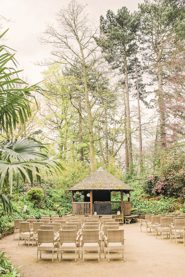 Outdoor Ceremony Rustic Secret Garden Wedding http://helenrussellphotography.co.uk/