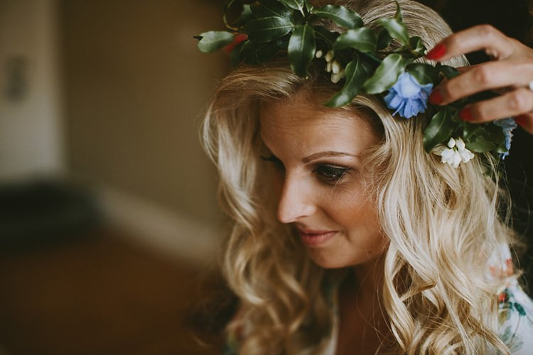 Flower Crown Bride Bridal Beautiful Bohemian Beach Glamping Wedding http://www.thecurries.co/