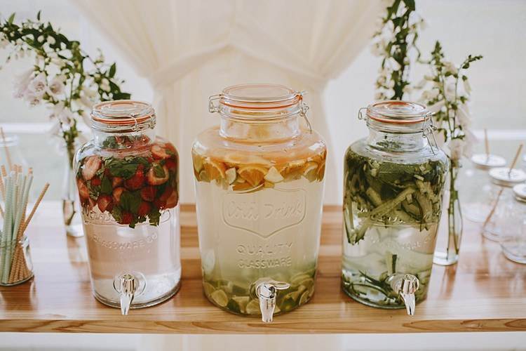 Drink Dispensers Water Beautiful Bohemian Beach Glamping Wedding http://www.thecurries.co/