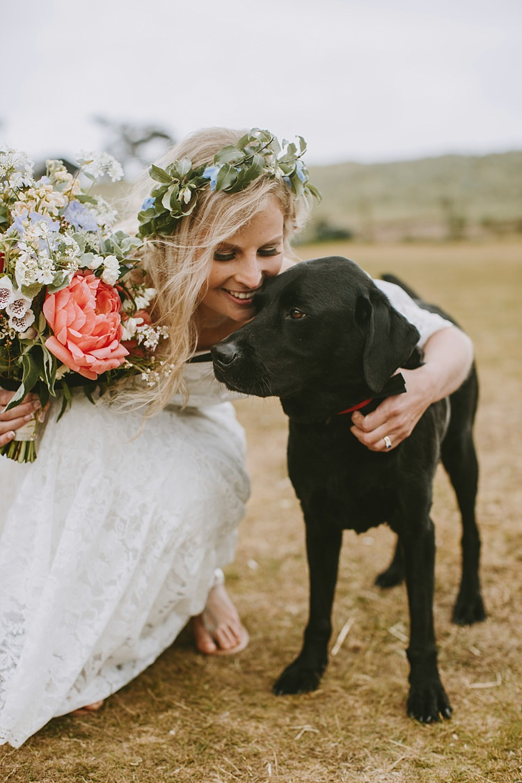 Dog Pet Beautiful Bohemian Beach Glamping Wedding http://www.thecurries.co/