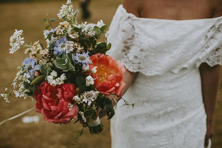 Coral Peony Peonies Bouquet Flowers Bride Bridal Beautiful Bohemian Beach Glamping Wedding http://www.thecurries.co/