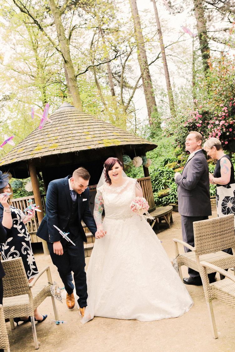 Paper Aeroplane Confetti Rustic Secret Garden Wedding http://helenrussellphotography.co.uk/