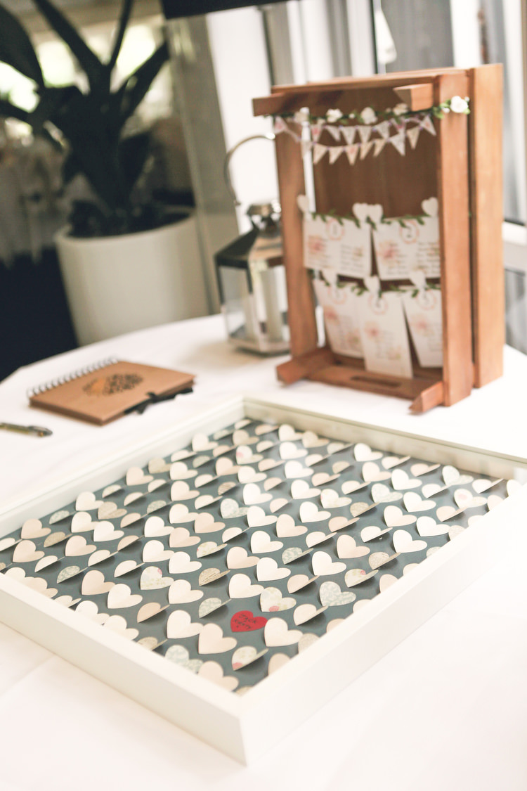 Paper Heart Guest Book Frame Rustic Secret Garden Wedding http://helenrussellphotography.co.uk/