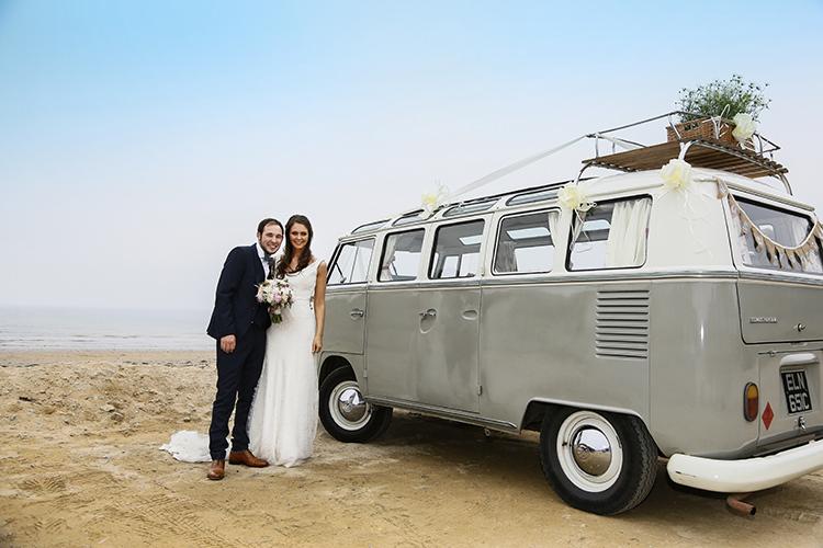 VW camper Van Country Cornish Pastel Beach Wedding http://www.slr-weddingphotography.co.uk/
