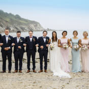 Country Cornish Pastel Beach Wedding