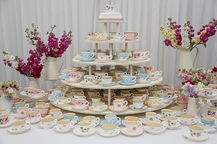 Tea Cup Cake Country Cornish Pastel Beach Wedding http://www.slr-weddingphotography.co.uk/