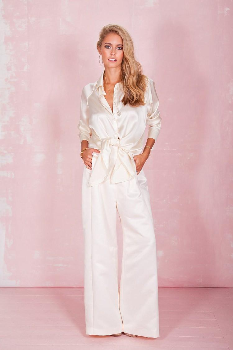 Bianca Shirt Clover Trouser Belle & Bunty 2017 Bridal Wedding Dress Collection