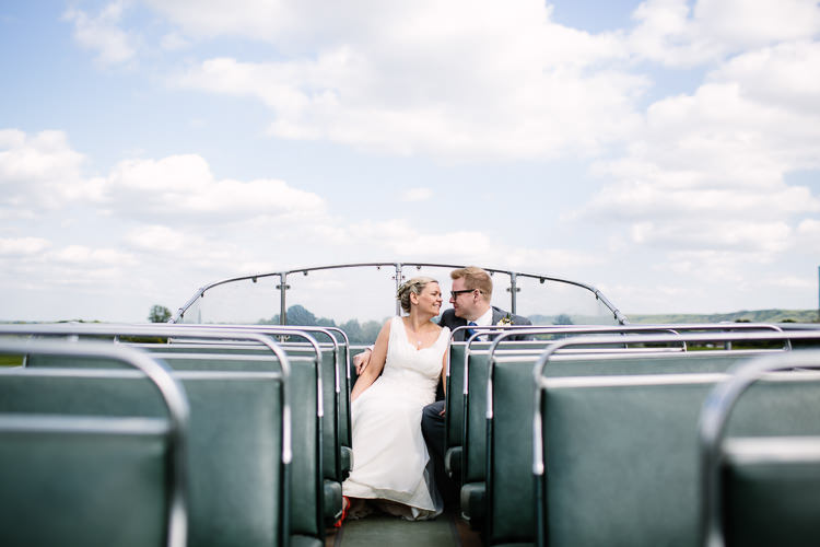 Open Top Bus Intimate Simple Country Barn Wedding http://joannabrownphotography.com/