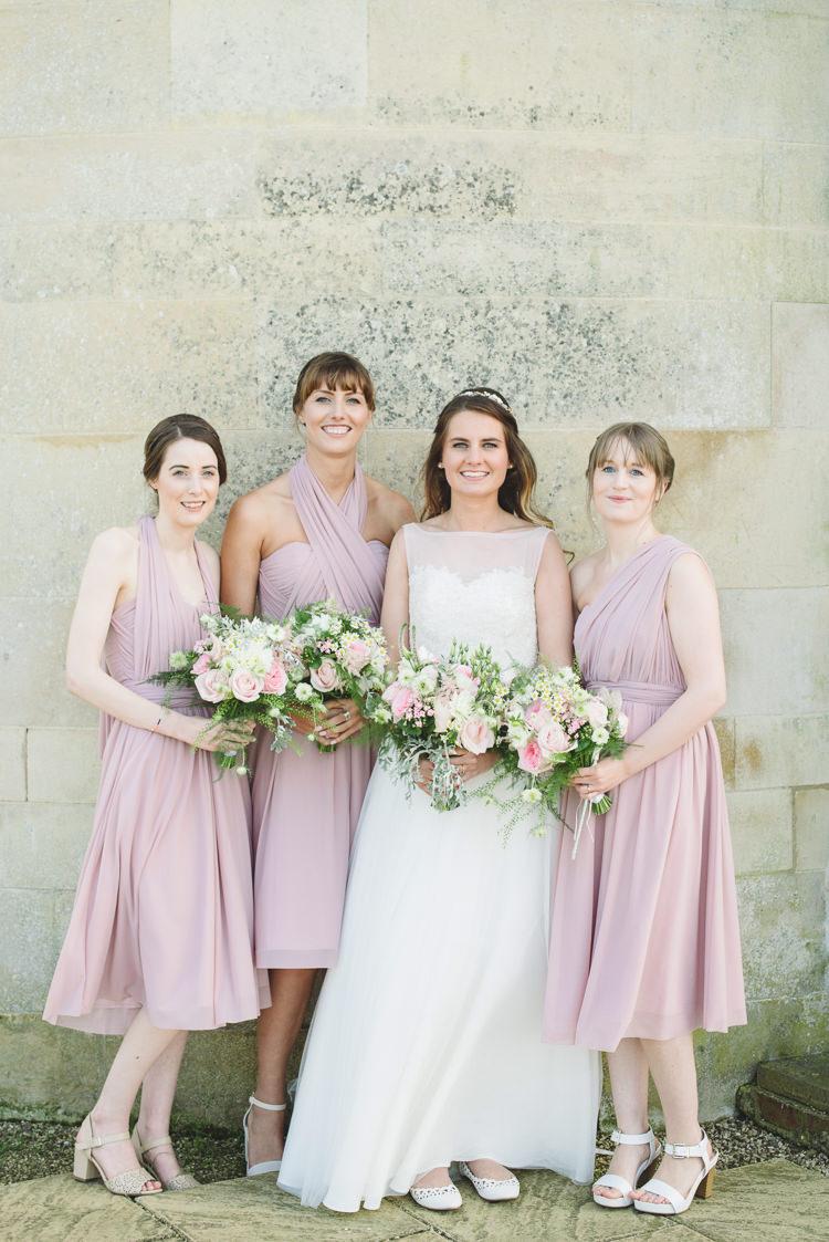 Pretty pink floral garden wedding whimsical wonderland weddings short bridesmaid dresses asos pretty pink floral garden wedding httpsgeorgimabee ombrellifo Images