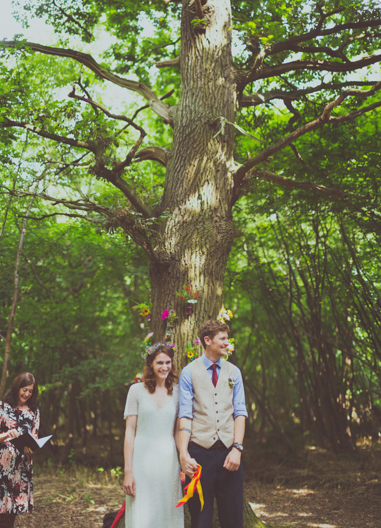 Wise Weddings Kent Colourful Woodland Humanist Wedding http://sashaweddings.co.uk/