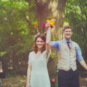 Colourful Woodland Humanist Wedding