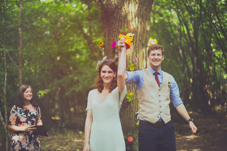 Colourful Woodland Humanist Wedding http://sashaweddings.co.uk/