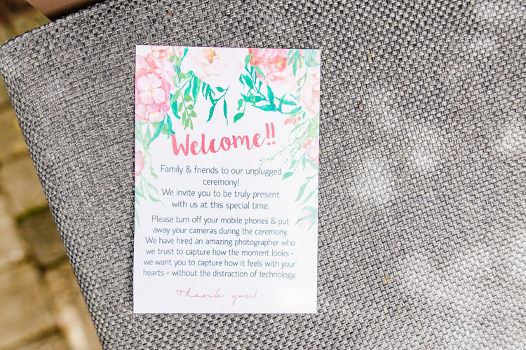 Stationery Floral Unplugged Fresh Relaxed Romantic Pink Green Pub Wedding http://www.els-photography.com/