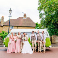 Fresh Relaxed Romantic Pink Green Pub Wedding http://www.els-photography.com/