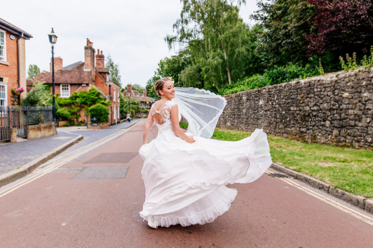 Naomi Neoh Vivienne Dress Gown Bride Bridal Fresh Relaxed Romantic Pink Green Pub Wedding http://www.els-photography.com/