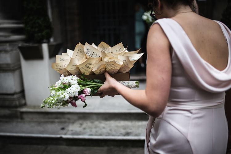 Music Paper Confetti Cones Mismatched London Pub Wedding http://www.olliverphotography.com/