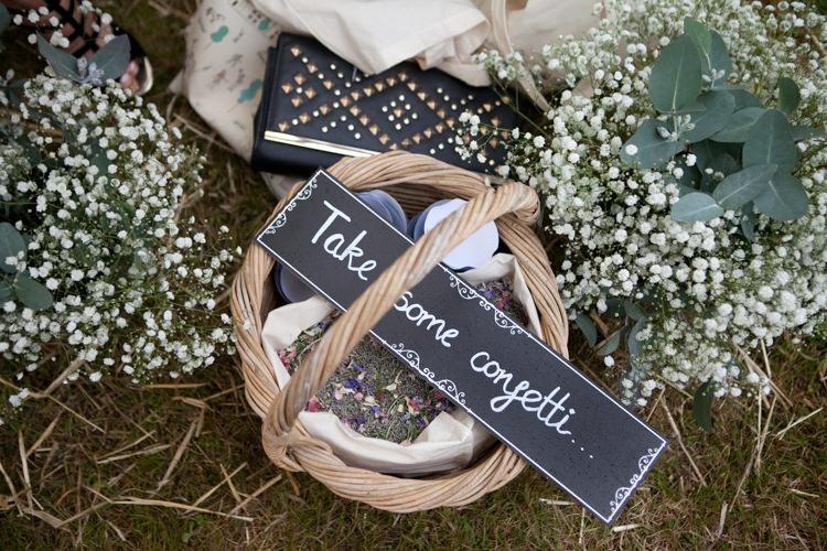 Confetti Basket Rustic Outdoor Rural Tipi Wedding http://emmastonerweddings.com/