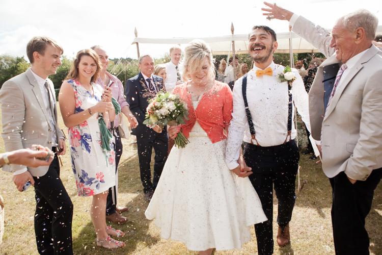 Confetti Throw Rustic Outdoor Rural Tipi Wedding http://emmastonerweddings.com/