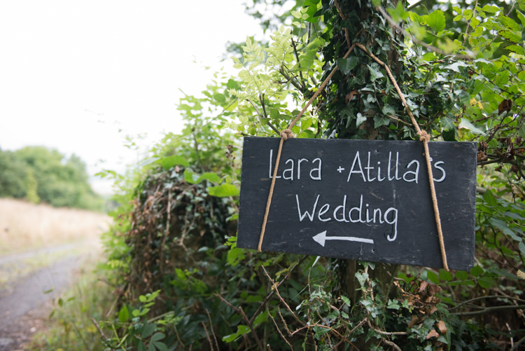 Slate Welcome Sign Rustic Outdoor Rural Tipi Wedding http://emmastonerweddings.com/