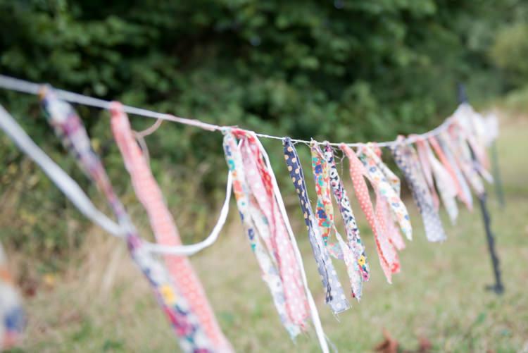 Rag Bunting Rustic Outdoor Rural Tipi Wedding http://emmastonerweddings.com/