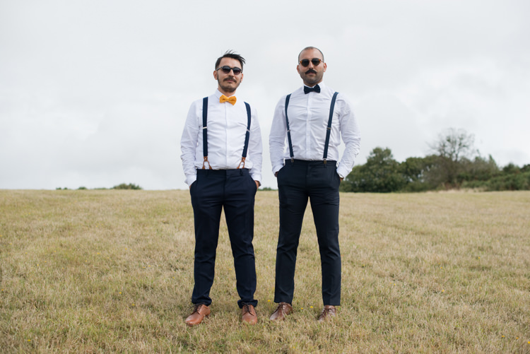 Bow Tie Braces Groom Groomsmen Rustic Outdoor Rural Tipi Wedding http://emmastonerweddings.com/