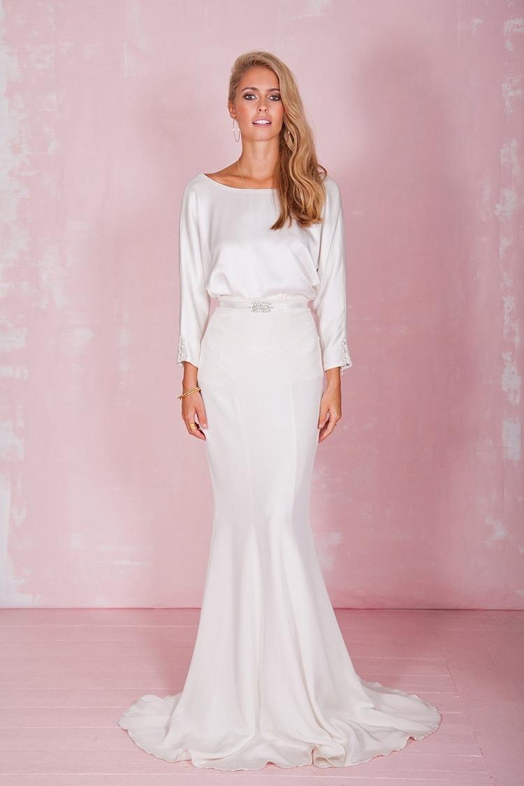 Flossie Top Petal Skirt Belle & Bunty 2017 Bridal Wedding Dress Collection
