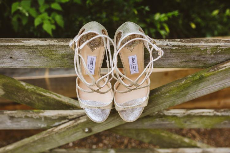 Jimmy Choo Shoes Heels Bride Bridal Pretty Festival Barn Countryside Wedding http://www.claretamim.co.uk/